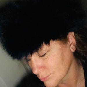 Vintage Real Dyed Fur Hat